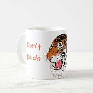 Verärgerter Tiger //tun nicht Touch meine Tasse! Kaffeetasse