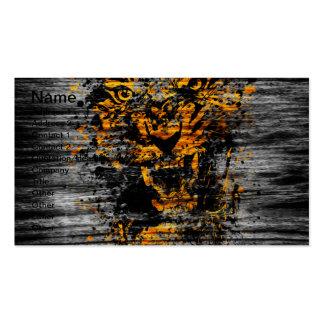 Verärgerter Tiger Visitenkarte