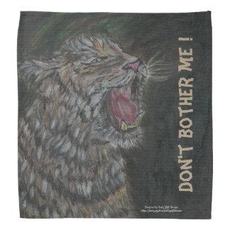 Verärgerter Tigerschrecken Sie weg/Show ein Halstuch