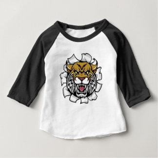Verärgerter wilder Hintergrund-Durchbruch Baby T-shirt