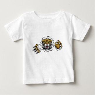 Verärgerter wilder Hintergrund kratzt Durchbruch Baby T-shirt