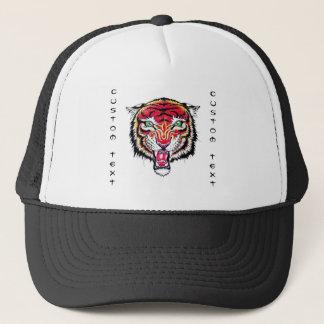 Verärgerter wilder Tiger des coolen Truckerkappe