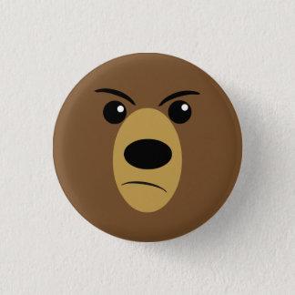 Verärgertes Bärn-Gesicht Runder Button 2,5 Cm