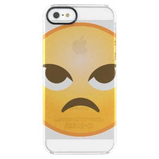 Verärgertes Emoji Durchsichtige iPhone SE/5/5s Hülle