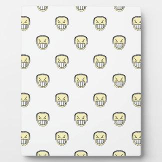 Verärgertes Emoji Grafik-Muster Fotoplatte