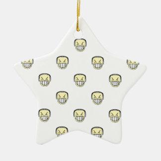 Verärgertes Emoji Grafik-Muster Keramik Ornament