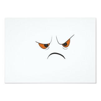 Verärgertes Gesicht 12,7 X 17,8 Cm Einladungskarte