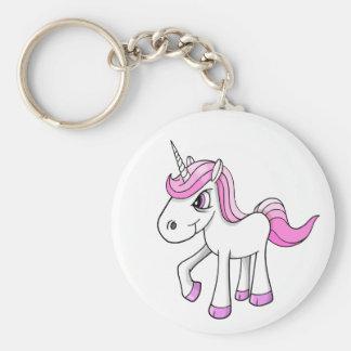 Verärgertes Meany-Einhorn-Pony-Schlüsselkette Standard Runder Schlüsselanhänger
