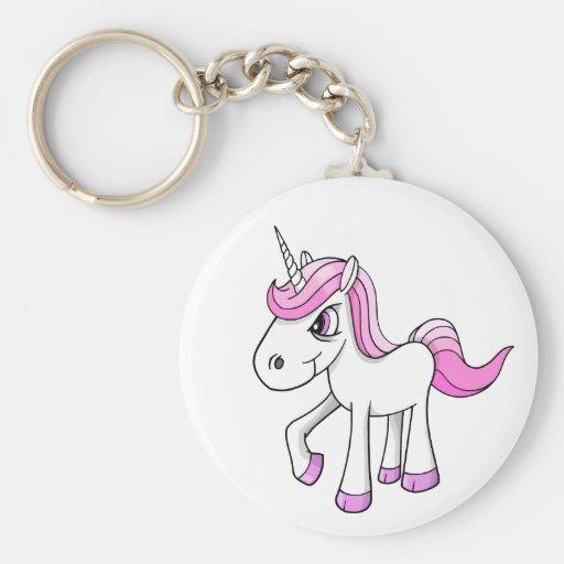 Verärgertes Meany-Einhorn-Pony-Schlüsselkette Schlüsselband