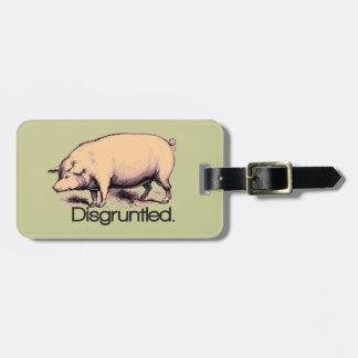 Verärgertes Schwein Kofferanhänger