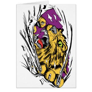 Verärgertes Tiger-Zerreißen Karte