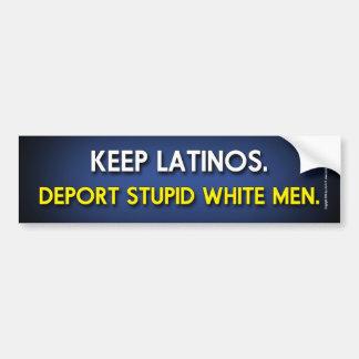 Verbannen Sie dumme weiße Männer Autoaufkleber