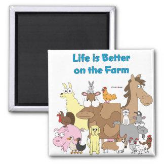 Verbessern Sie auf dem Bauernhof - Magnet Quadratischer Magnet