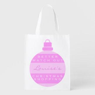 Verbessern Sie aufpassen heraus rosa Wiederverwendbare Einkaufstasche