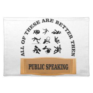 verbessern Sie dann das öffentliche Sprechen Tischset