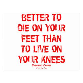 Verbessern Sie zu die auf Ihren Füßen… Postkarte