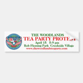 Verbesserte das Waldtee-Party b.sticker w/logo Autoaufkleber