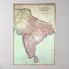 Verbesserte Karte von Indien veröffentlichte in Lo Poster
