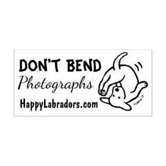 Verbiegen Sie nicht Labrador-Gummi-Briefmarke Gummistempel