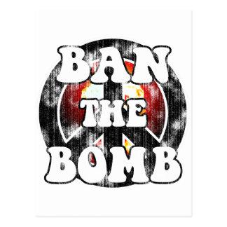 Verbieten Sie die Bombe (getragenen Blick) Postkarte