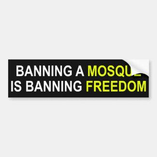 Verbieten Sie eine Moschee? Verbieten Sie Autoaufkleber