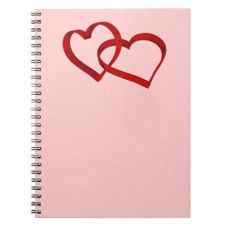Verbinden-Herzen Notizbuch Spiral Notizblock