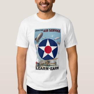 Verbinden Sie das Fluglinienverkehr-T-Stück Shirts