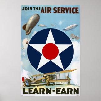 Verbinden Sie das Fluglinienverkehr-Vintage Plakat