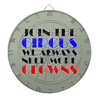 Verbinden Sie den Zirkus, den wir immer mehr Dartscheibe