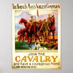 Verbinden Sie die Kavallerie - Schlachtross Poster