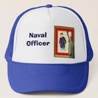 Verbinden Sie die Marine Truckerkappe