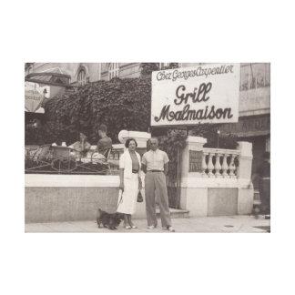Verbinden Sie Foto auf Café Malmaison, Cannes 1935 Leinwanddruck