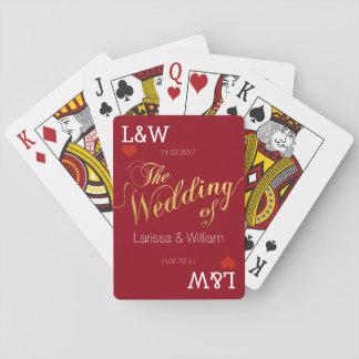 verbinden Sie Namen, die Liebefeier, wedding Rot Spielkarten