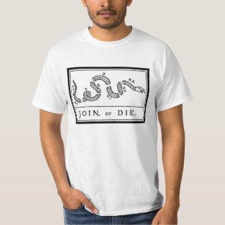 Verbinden Sie oder die - amerikanische Revolution T-Shirt