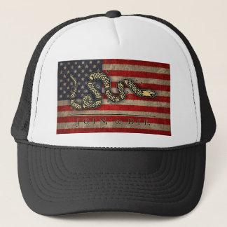Verbinden Sie oder die - Flagge Truckerkappe