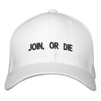 Verbinden Sie oder sterben Sie gestickter Hut Bestickte Baseballkappen