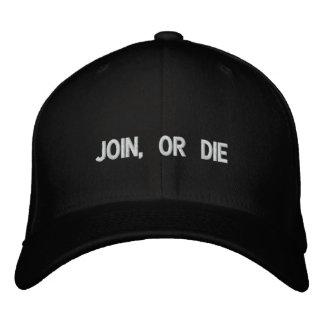 Verbinden Sie oder sterben Sie gestickter Hut Bestickte Baseballkappe