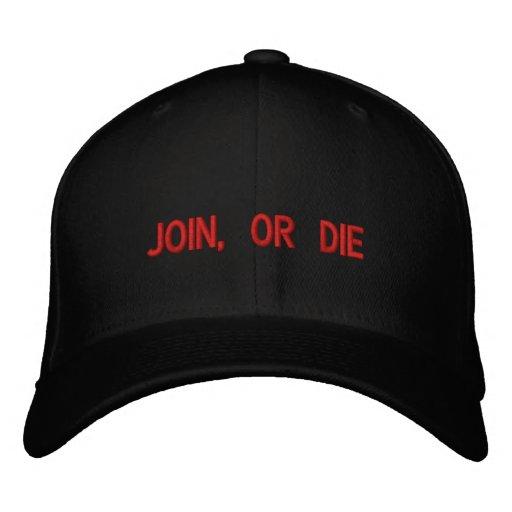Verbinden Sie oder sterben Sie gestickter Hut Besticktes Baseballcap