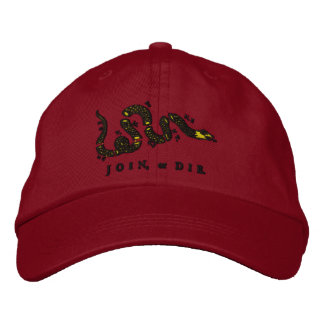Verbinden Sie oder sterben Sie gestickter Hut Bestickte Mütze