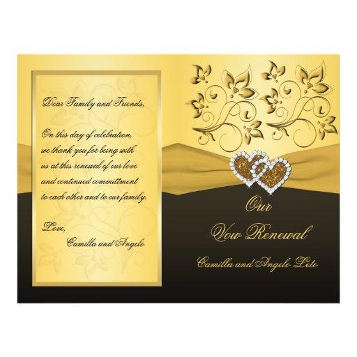 Verbindendes Herz-Ehegelübde-Erneuerungs-Programm Individuelle Flyer