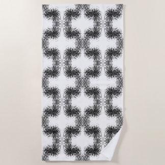 Verbindungs-Rauch-optische Illusions-Marmor Strandtuch