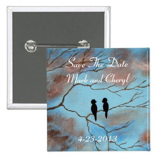 Verbindungs-Save the Date ursprüngliche Kunst-Male Anstecknadelbuttons