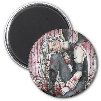 Verblassender Erinnerungens-gotischer Magnet Runder Magnet 5,1 Cm