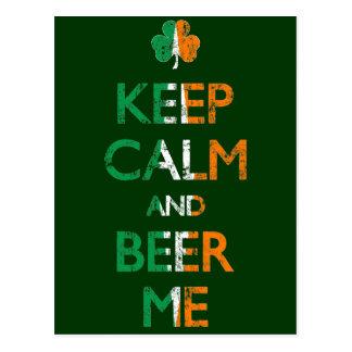 Verblaßt behalten Sie Ruhe und Bier-ich St Patrick Postkarte