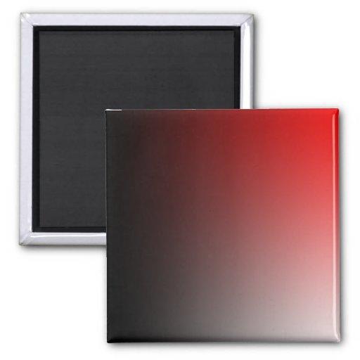 Verblaßt: Schwarzes und Rot Quadratischer Magnet