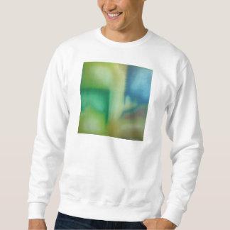 Verblaßte blaue u. grüne abstrakte Öl-Malerei Sweatshirt