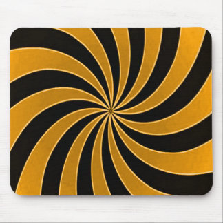 Verblaßte orange Sinnesverzerrung Stripes Muster Mousepad