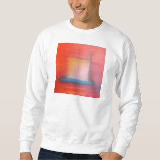 Verblaßte rote abstrakte Öl-Malerei Sweatshirt