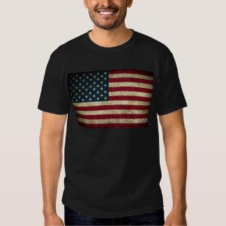 verblaßte und grungy amerikanische Flagge T-shirt