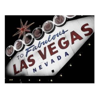 Verblaßte Vegas-Zeichen-Postkarte